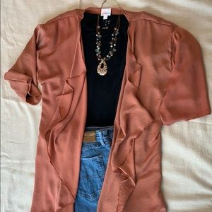 LulaRoe Rust Colored Shirley Cardigan M